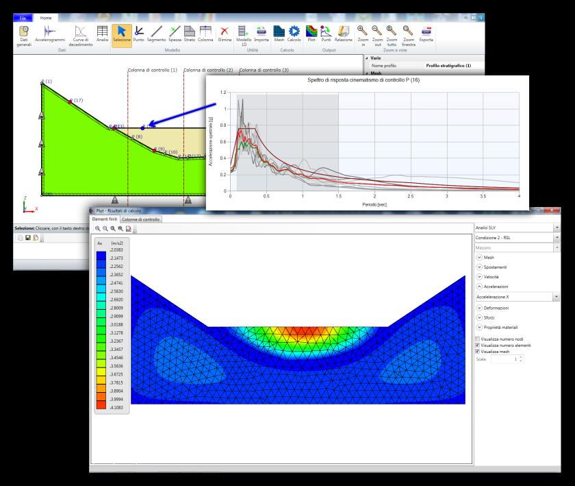 modello 2D di valutazione sismica locale