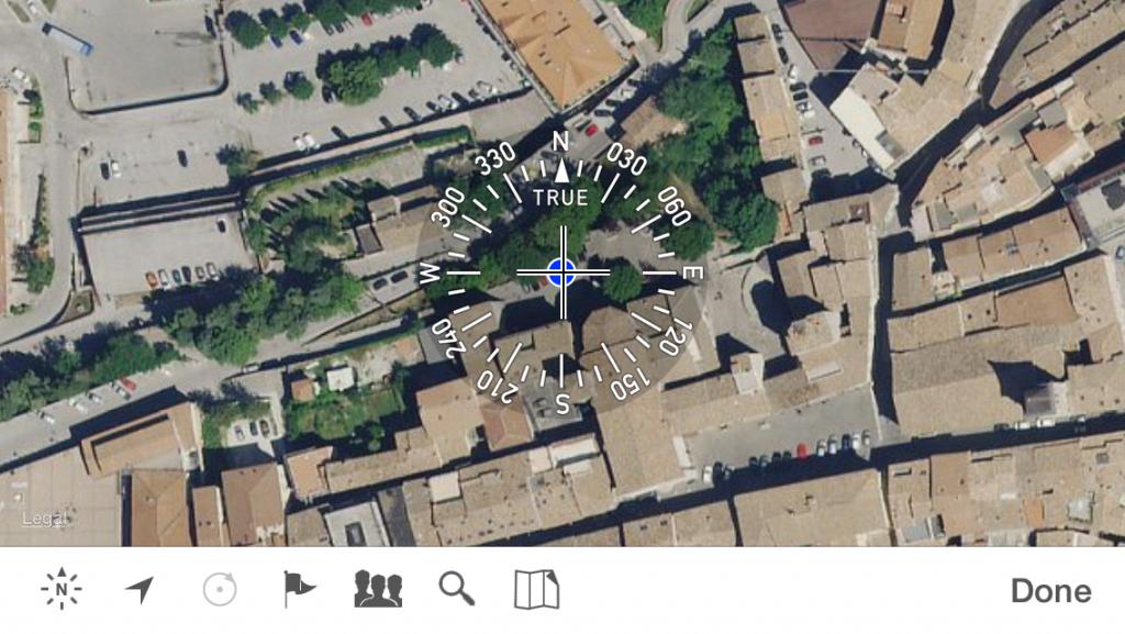 vista mappa theodolite iOS app